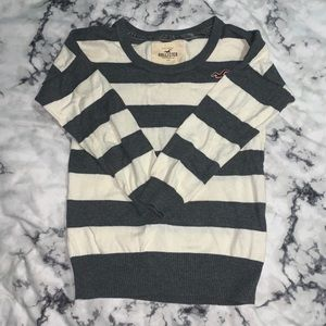 Grey and white stripe sweater Hollister